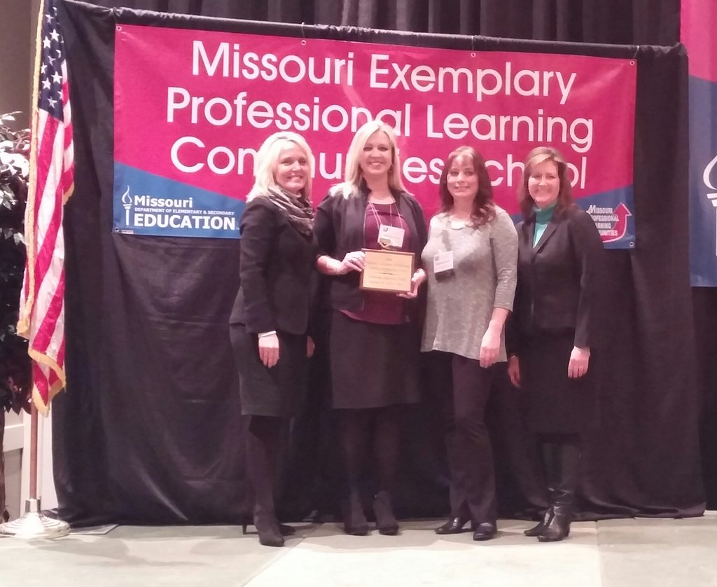 Staff members from Southview Elementary were recognized for their achievement at the Powerful Learning Conference in January.
